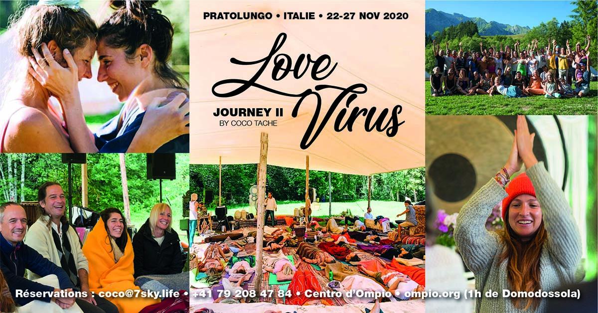 LoveVirus Journey II, du 22 au 27 novembre au Centro d'Ompio (Italie)