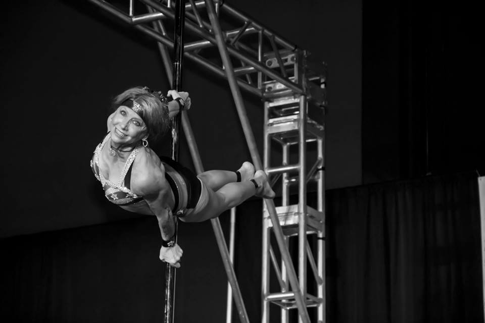 I'm Greta Pontarelli, I'm 66 years old, and I'm an aerial artist