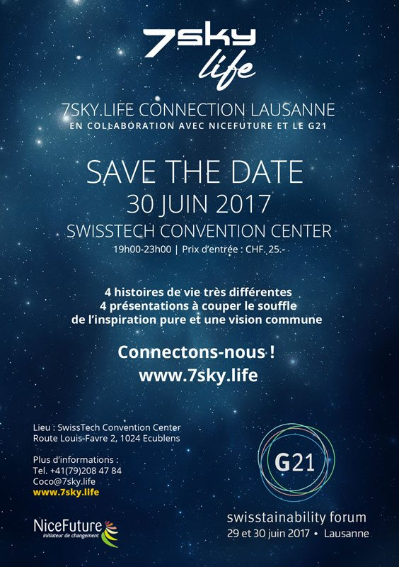 7sky.life Connection Lausanne, 'FREE' le 30 juin 2017 – Save the Date