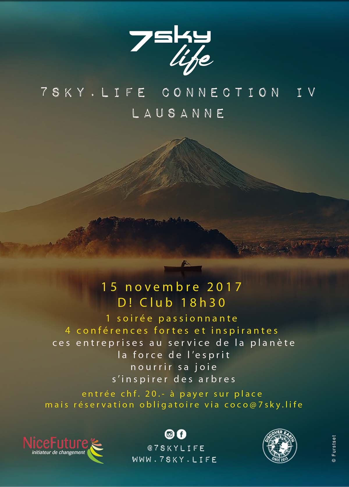 7sky.life Connection IV Lausanne | 18h30 D! Club | 15 novembre 2017