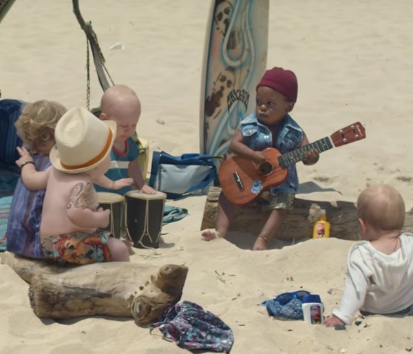 Evian Live Young Baby Bay's new surfers spot.