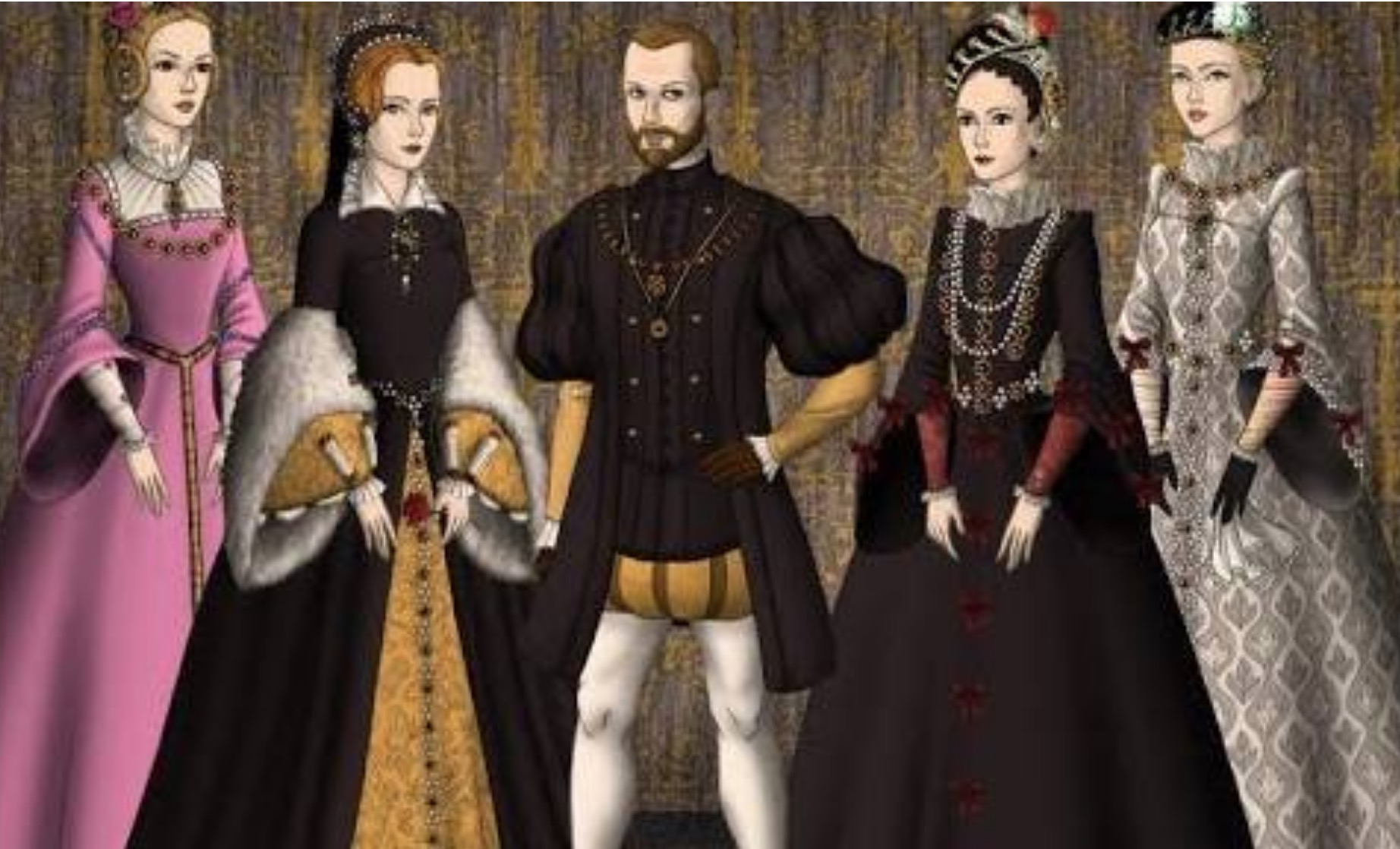 Once upon a time, there was a rich King who had four wives..