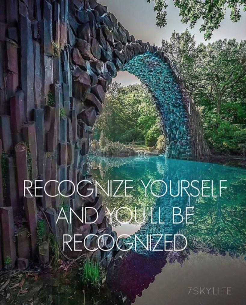 Erkenne dich selbst, und du wirst erkannt werden